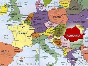 Romania Europe Map